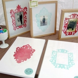 Letterpress Frame Mats ~ i love the idea of how easily this can dress up an image ~ more patterns and design please! This one is from Sycamore Street Press