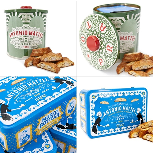 Antonio Mattei's holiday biscotti tins are always so beautiful! The latest two have just arrived...