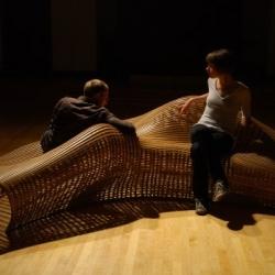 Steam bent oak furniture by Matthias Pleissnig