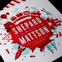 Super-amazing letterpress birth announcement by Mattson Creative.