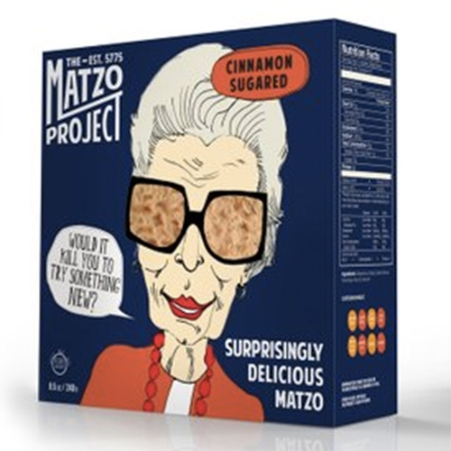 The Matzo Project! Matzo updated with Salt, Everything, and Cinnamon Sugar flavors... also awesome packaging.