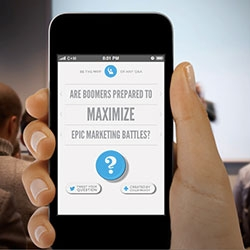 Ad Conference Question Generator App by Colle + McVoy ~ all you need to put your hand up and ask questions at Ad Week.