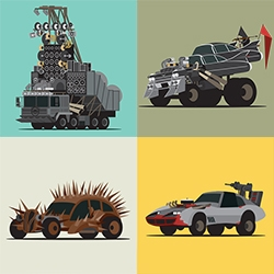 MAD WORLD - The vehicles of Fury Road. Amazing series of illustrations from Scott Park inspired by Mad Max!