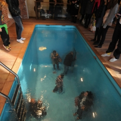 Leandro Erlich's magical swimming pool, in which people can walk and breath, is on view at PS1 until October.