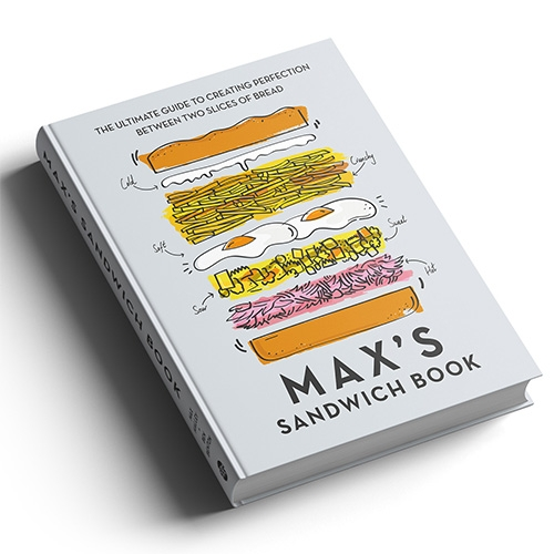 Max's Sandwich Book by Max Halley + Ben Benton of Max's Sandwich Shop in London is as beautifully designed and illustrated as it is mouth-watering. Here's a peek inside and a quick flip thru.