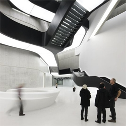The MAXXI Museum previously seen at #26287 gets photographed by Iwan Baan. The views from the interiors are amazing.