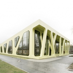 Another great example of Jurgen Mayer architecture, a continuous formal study that ends up in buildings like the Mensa Moltke in Karlsruhe, Germany, with the help of ARUP engineers.