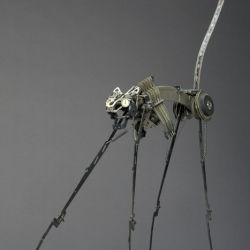 Some pretty interesting sculptures assembled entirely out of typewriter parts.