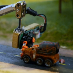 Micro Mayhem! by Stoopid Buddy Stoodios is a hand-crafted stop-motion animation using Micro Machines.