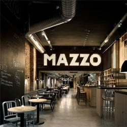 Mazzo restaurant in Amsterdam from Concrete Architectural Associates.