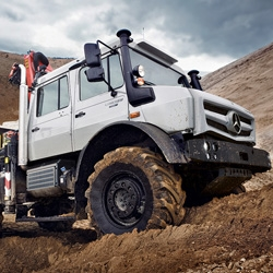 Mercedes-Benz has unveiled the new lineup of their Unimog off-road machines.