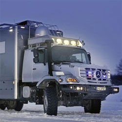 Curious to explore inside the Mercedes-Benz Zetros 6x6 Luxury Expedition Vehicle