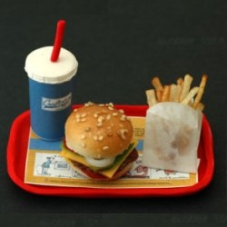 The worlds smallest fast food meal.  Perfect for pixies and wood nymphs