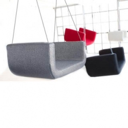 The ME & U swing from Softline is a perfect indoor swing for the entire family. The removable upholstered covers are great for cleaning and comes in great colors!