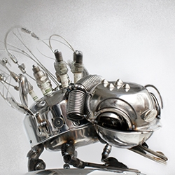 Stunning mechanical insect sculptures made by Bulgarian artist Dimitar Valchev.