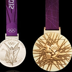 Comparing the London 2012 Olympic Games medal with past medals.