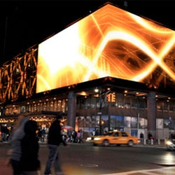 """Port Authority Bus Terminal is to be decked with GKD-USA's MediaMesh, a new system for the """"medialization"""" of large façades."""