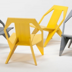 MEDICI is a low chair with a comfortably reclined posture. - designed by Konstantin Grcic.