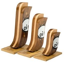 MegaRampa trophies by Danilo Conti, designer of Brasil.
