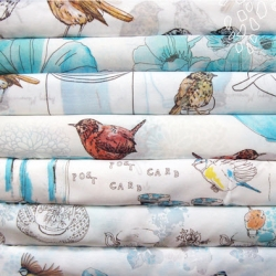 How cute are Megan Ashwell's BIRDS + BOBS textile designs?