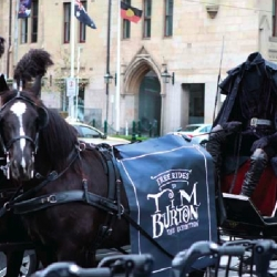 A headless horseman from Sleepy Hollow travels through Melbourne to promote a Tim Burton Exhibition. By DDB Melbourne for Australian Center for the Moving Image.