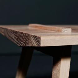 Sleek designed wooden furniture by German 'carpentress' Denise Mierisch.