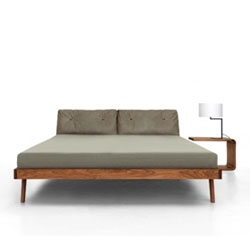 Zeitraum have received an Interior Innovation Award at this year's IMM Cologne for 'Mellow' - a luxury wooden bed.