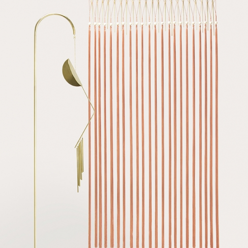 Agustina Bottoni Melodicware sound sculptures contain brass chimes of different lengths that play pleasant musical notes. Swinging by breeze or touch, they release casual melodies.