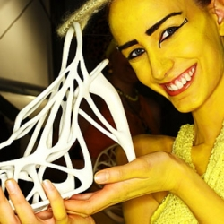 A world's first? Fully wearable 3D printed shoes by Swedish design students Naim Josefi and Souzan Youssouf.