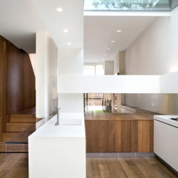 Melrose Gardens, by Scape Architects, is a three-storey extension to the rear of a Victorian terraced house in West London. Great with a house that can surprise with a modern and clean interior.