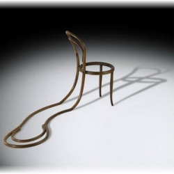 """Melting Thonet"", part of the series ""Thoneteando"" by Argentinian designer and sculptor Pablo Reinoso."