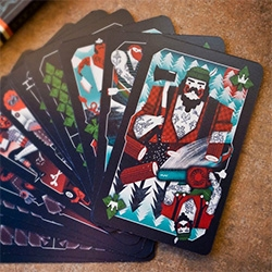 Limited Edition Incredible Men Playing Cards,  beautifully designed set of playing cards from Prague based Tomski & Polanski.