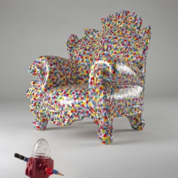 AWESOME ceramic proust chair designed by ALESSANDRO MENDINI for SUPEREGO EDITIONS.