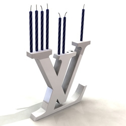 The intersection of haute couture and western religion:  The Louis Vuitton Menorah