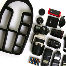 Kickstarter - TrekPak, a pin based partition system for holding, organizing and protecting all of your lenses.
