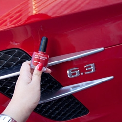 Le Mans Red ~ from Mercedes-AMG SLS paint job to nail polish color, i couldn't resist seeing how the two matched up...