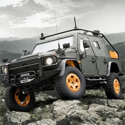 Wow! Mercedes-Benz G-Wagon LAPV 6.X Concept ~ Unveiled at the Eurosatory defense exposition in France, it is the latest armored military version of the legendary sport-ute.