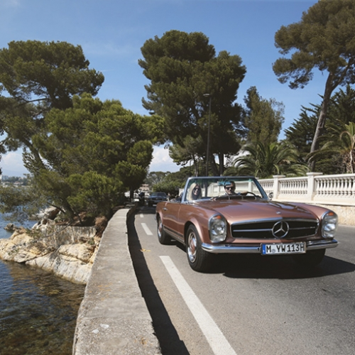 Mercedes Benz Classic Car Travel embraces the growing love of gorgeous vintage vehicles with these SL road trip adventures in Tuscany and Provence. It's like a press trip - small group, arranged routes, boutique hotels, and culinary delights!