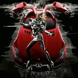 Nick Knight, one of the most renown fashion photographers today, just did a special shoot of the 2011 Mercedes SLS AMG with supermodel Julia Stegner for MB Fashion Week 2010 in Berlin.