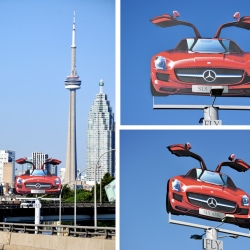Astral Out-of-Home and BBDO developed the ideal creative platform to launch the new luxury high performance Mercedes-Benz SLS. Billboards were converted into attention grabbing creative executions to support this launch.