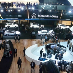 Photos of the Mercedes-Benz presentation during the Frankfurt Auto Show.