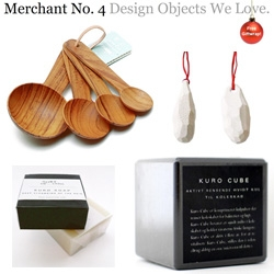 Merchant 4 has some beautifully functional kitchen accessories like the charcoal cube/soap, woody spoons, knife sharpeners and more 10% off!