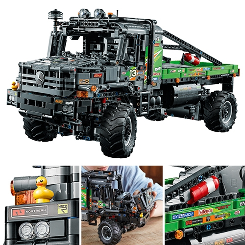 """LEGO Technic 4x4 Mercedes-Benz Zetros Trial Truck -  """"In a first for LEGO Technic, this model has differential locking. Lock and unlock the differentials using the app to maneuver the truck over rough terrain."""""""