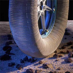 NASA and Goodyear have been awarded a 2010 R&D 100 Award for their airless mesh tire design, intended to be used on moon vehicles.