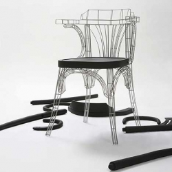 Grid Chair by Jaebom Jeong.  Very Eiffel Tower like. Via Mocoloco.