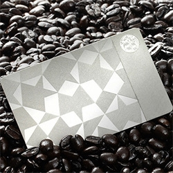 Starbucks x Gilt = 5000 limited edition etched stainless steel gift cards for $450 (gift card value of $400) - includes automatic My Starbucks Rewards Gold Level membership