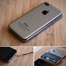Advice on how to mod your iPhone 4 by replacing  the glass back with a sleek metal panel.
