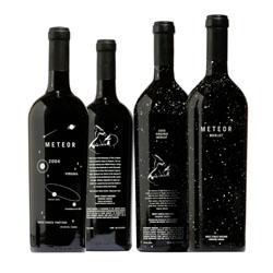Great bottle design by WORK Labs for White Fences Vineyard's Meteor Merlot.