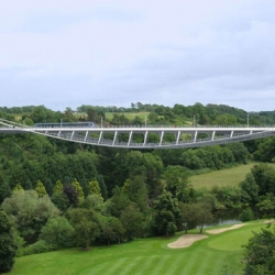 amazing bridge near dublin, by explorations architecture + buro happold