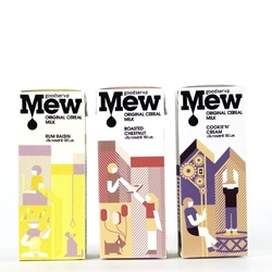 Cute packaging for Mew Cereal Milk by Default.
